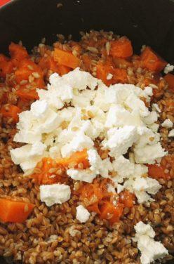 Salade de petit épeautre au potimarron et féta
