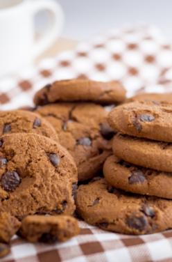 Cookies choco-cannelle et Mouhalabieh à la rose