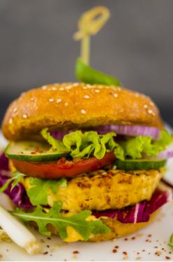 Hamburger veggie au tofu