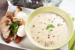 Crème de panais et champignons