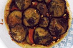 Tatin d'aubergine,algue Nori et poivron