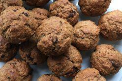 Muffins vegans à la banane et au chocolat