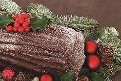 Bûche de noël cacao et poires