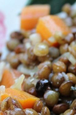 Lentilles aux carottes et aux épices