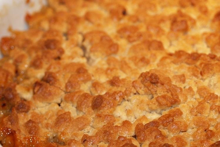 Crumble de pommes et cookies au caramel