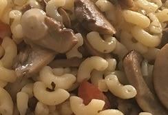 Risotto de coquillettes blanches aux champignons