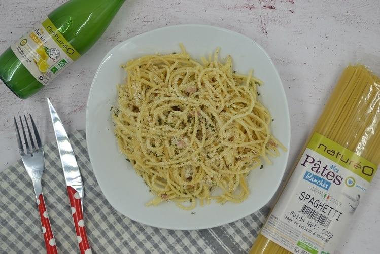 Spaghetti au citron et à l'échalote