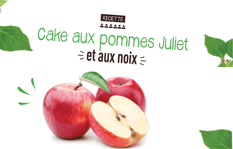 Cake aux Pommes Juliet et aux Noix